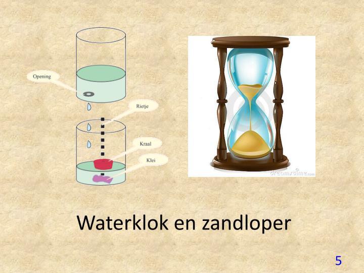 Waterklok en zandloper