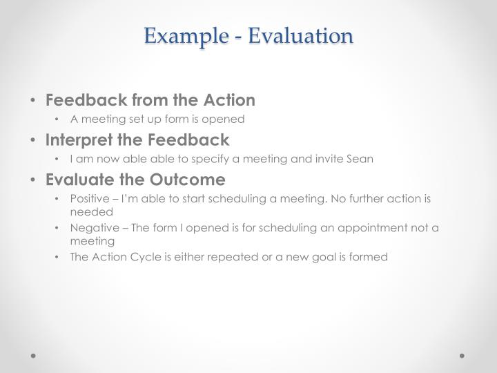 Example - Evaluation