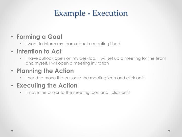 Example - Execution