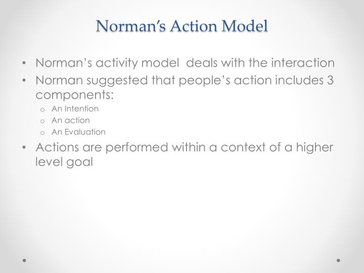 Norman's Action Model