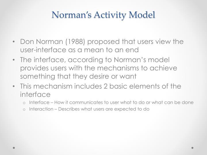 Norman's Activity Model