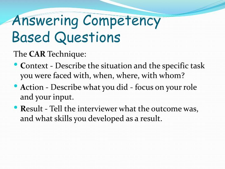 Answering Competency