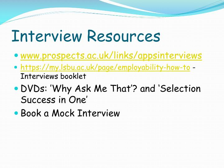 Interview Resources