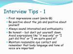 interview tips 1