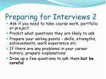 preparing for interviews 2