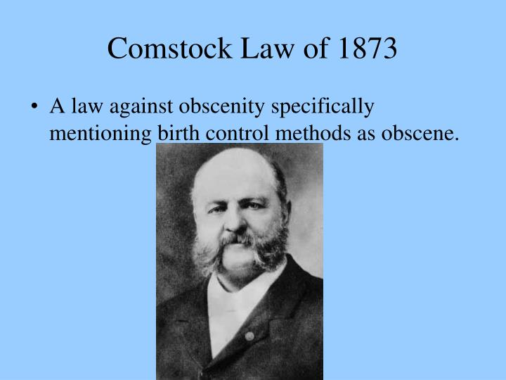 Comstock Law of 1873