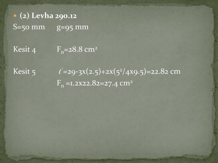 (2) Levha 290.12
