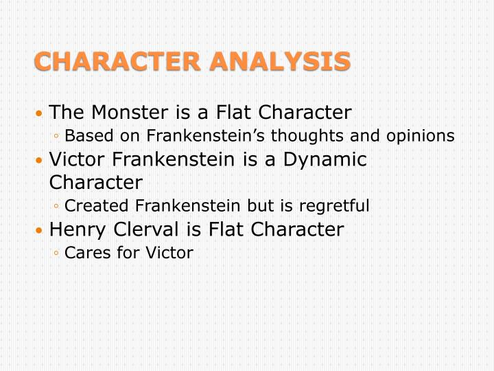 The Monster is a Flat Character
