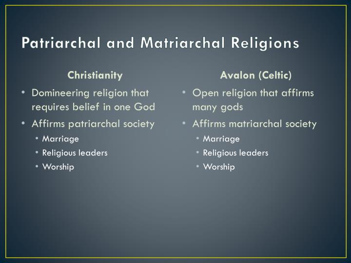 Patriarchal and Matriarchal Religions