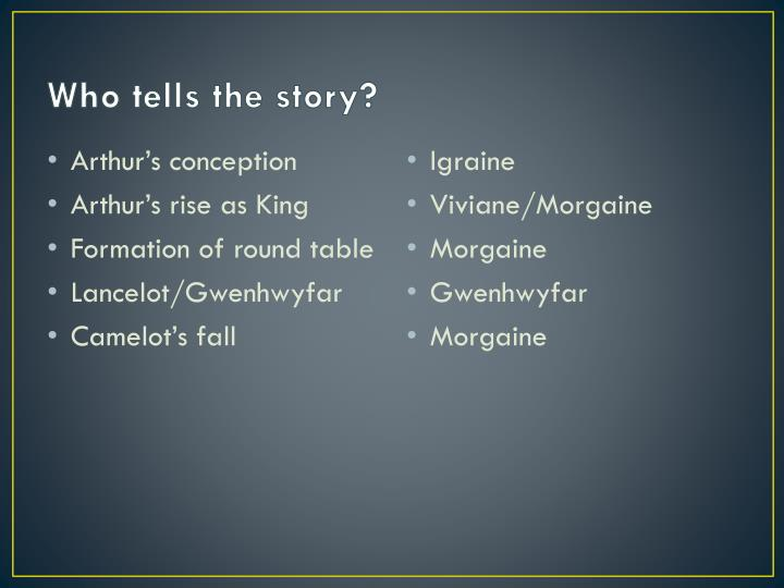 Who tells the story?
