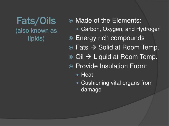 Fats/Oils