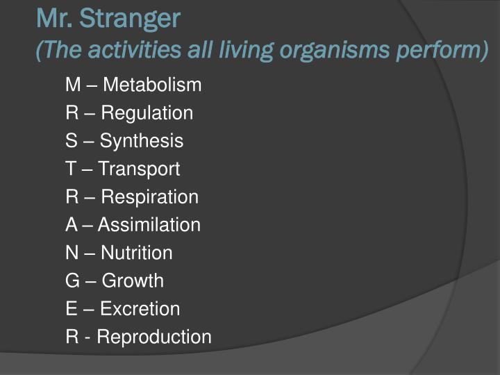 M – Metabolism