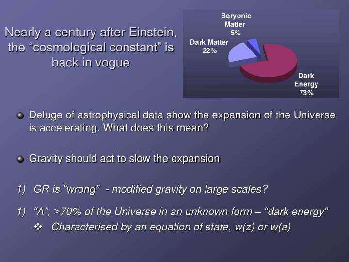 Nearly a century after Einstein,