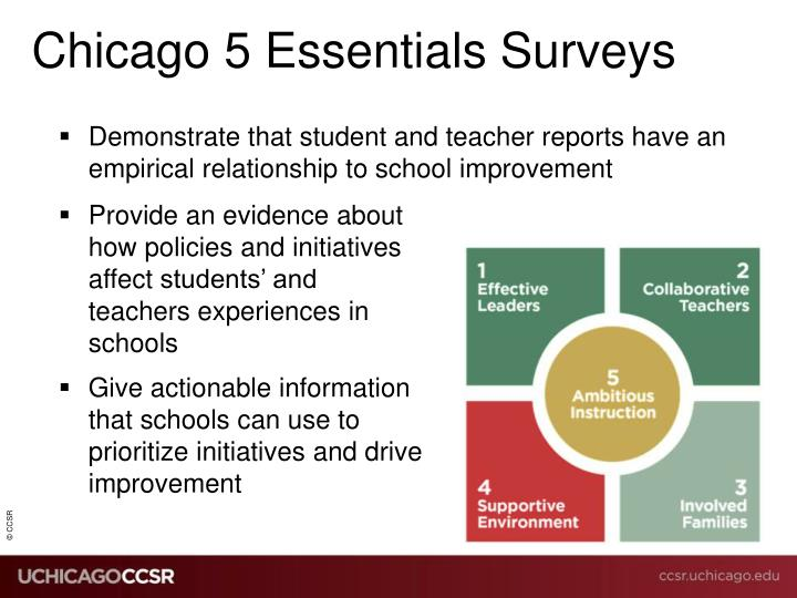 Chicago 5 essentials surveys