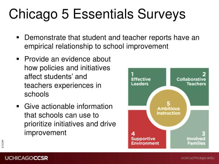 Chicago 5 Essentials Surveys