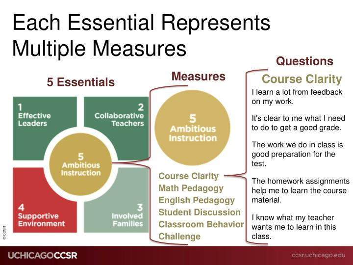 Each Essential Represents Multiple Measures