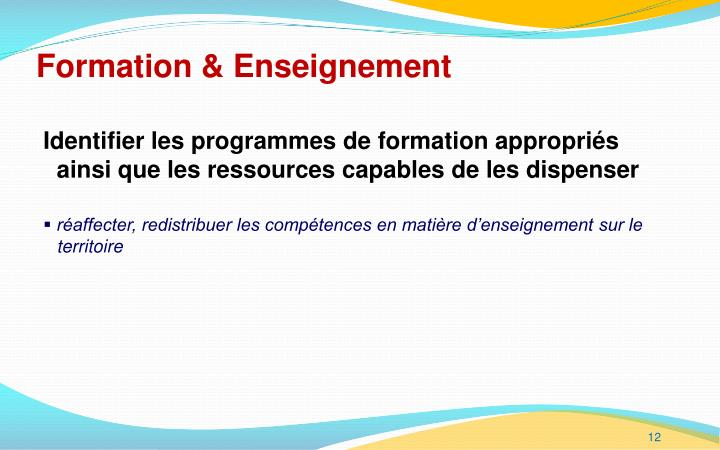 Formation & Enseignement