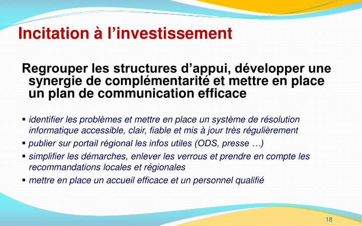 Incitation à l'investissement