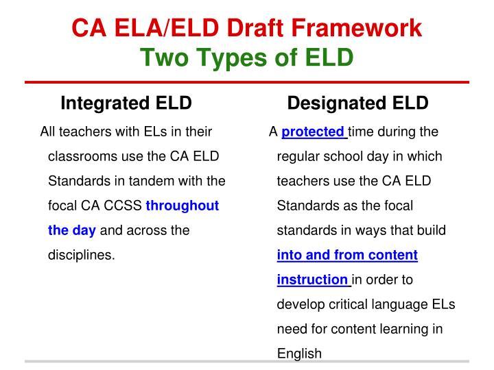CA ELA/ELD Draft Framework