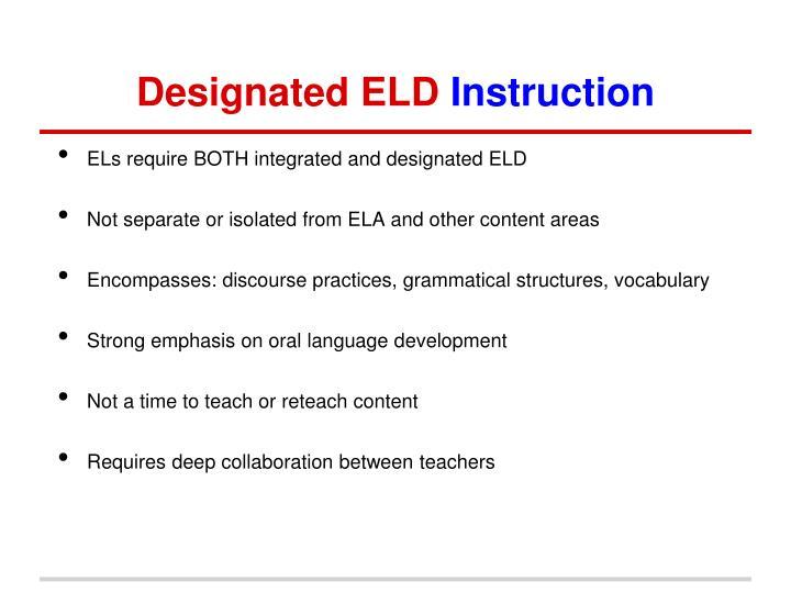 Designated ELD