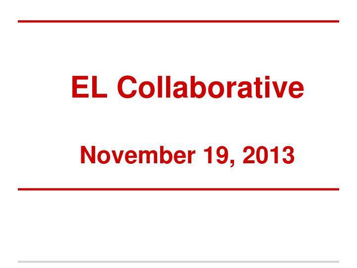 El collaborative november 19 2013