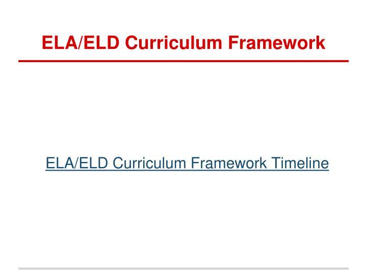 ELA/ELD Curriculum Framework