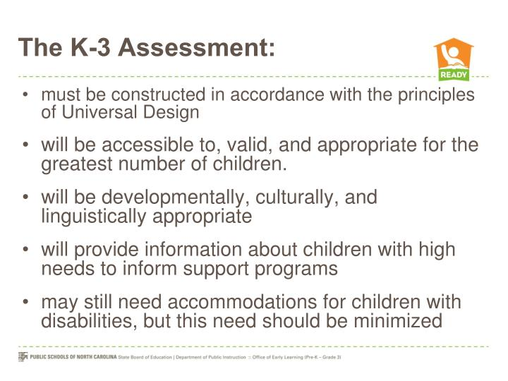 The K-3 Assessment:
