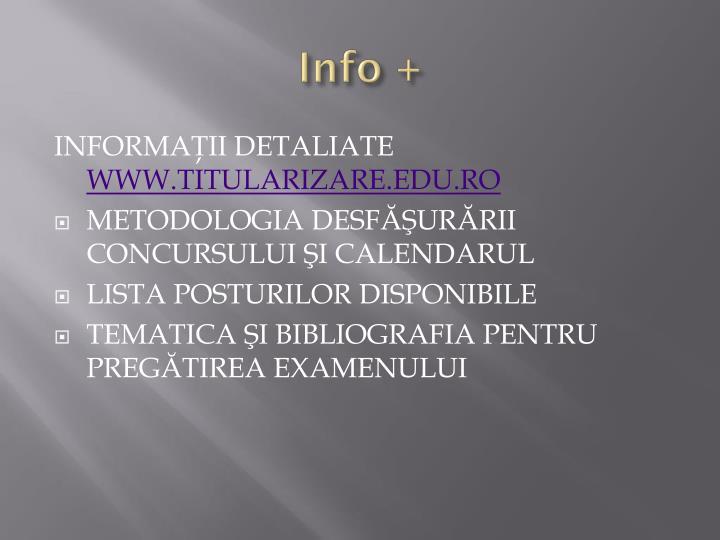 Info +