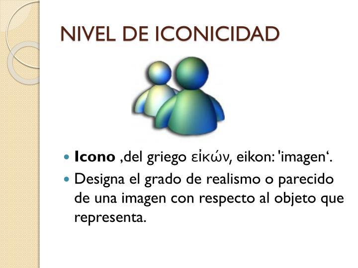 NIVEL DE ICONICIDAD