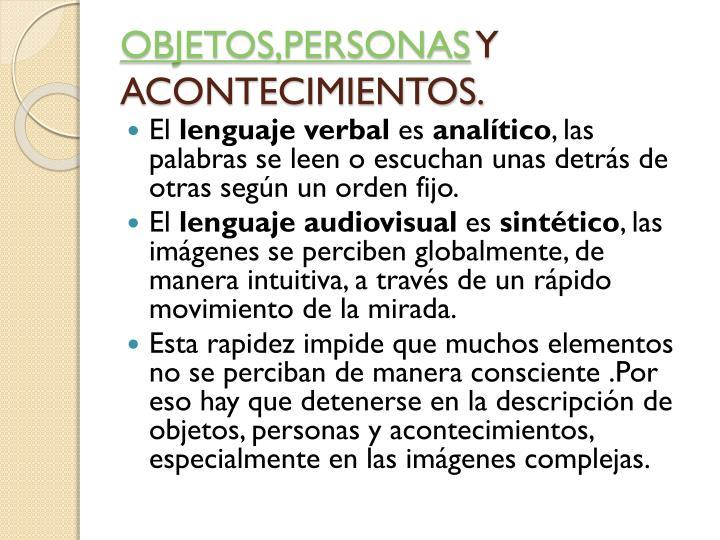 OBJETOS,PERSONAS
