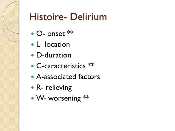 Histoire- Delirium
