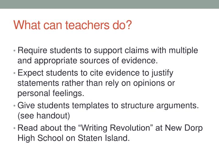 What can teachers do?