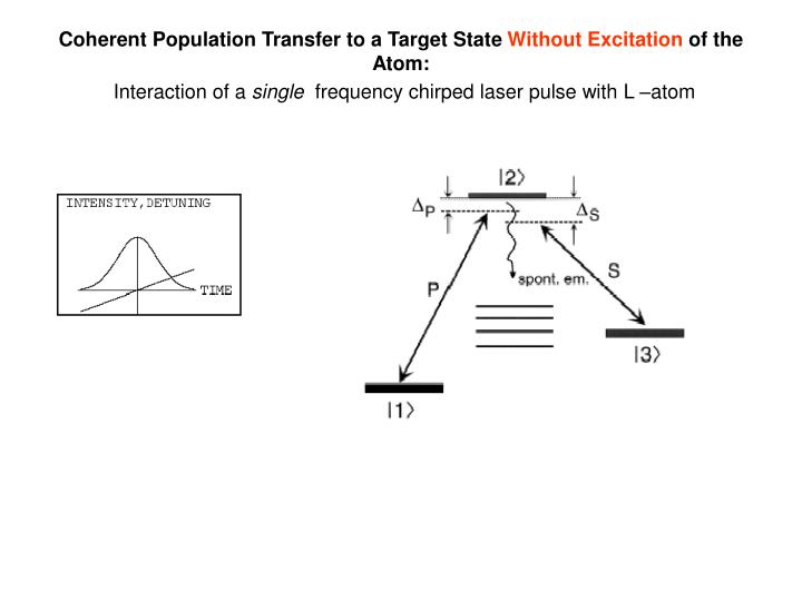 Coherent Population Transfer to a Target State