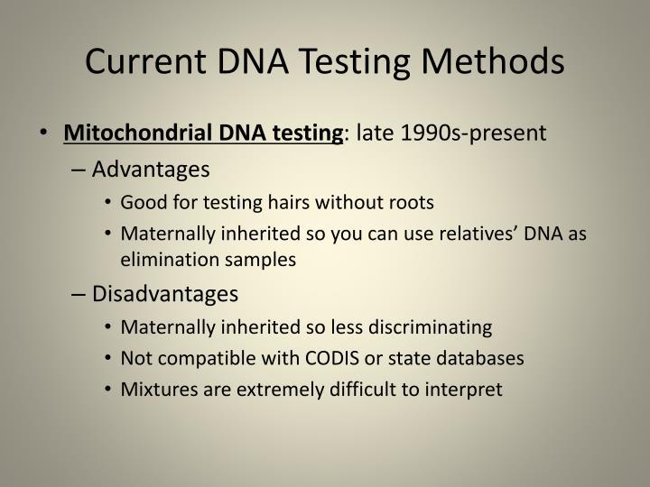 Current DNA Testing Methods