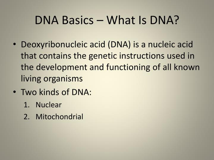 Dna basics what is dna