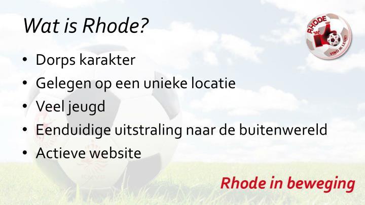 Wat is Rhode?