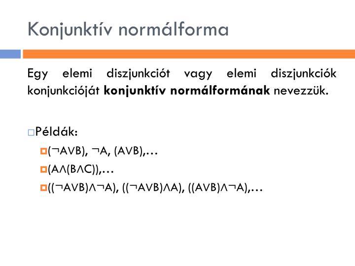 Konjunktív normálforma