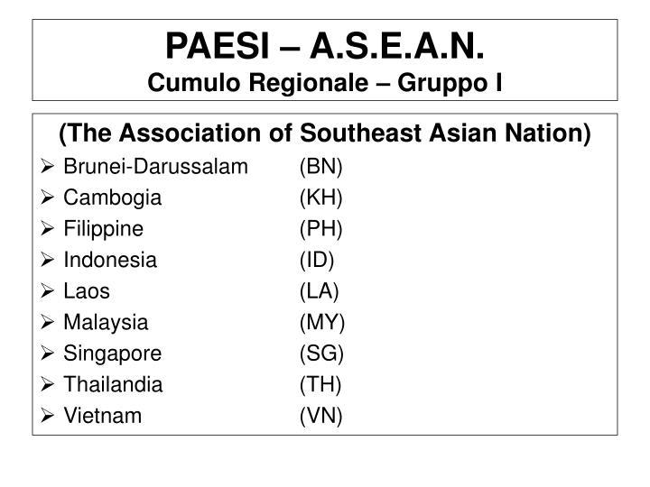 PAESI – A.S.E.A.N.