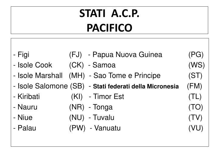 STATI  A.C.P.