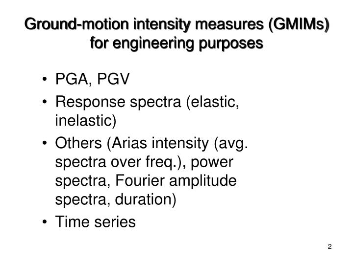 Ground-motion
