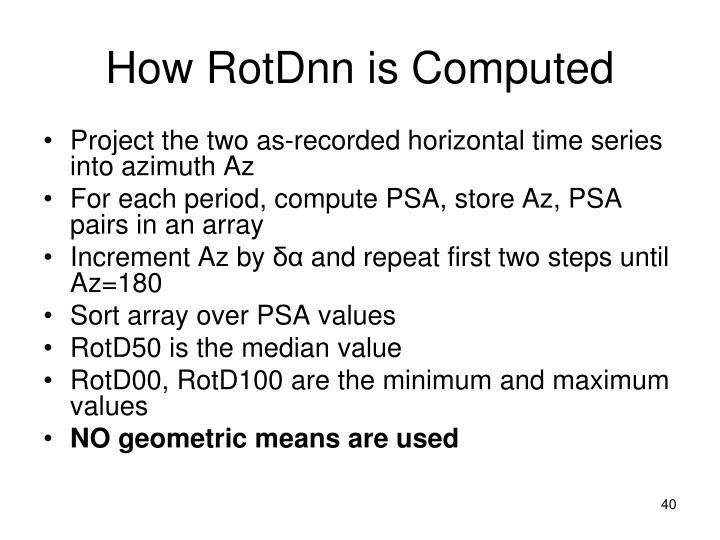 How RotDnn is Computed