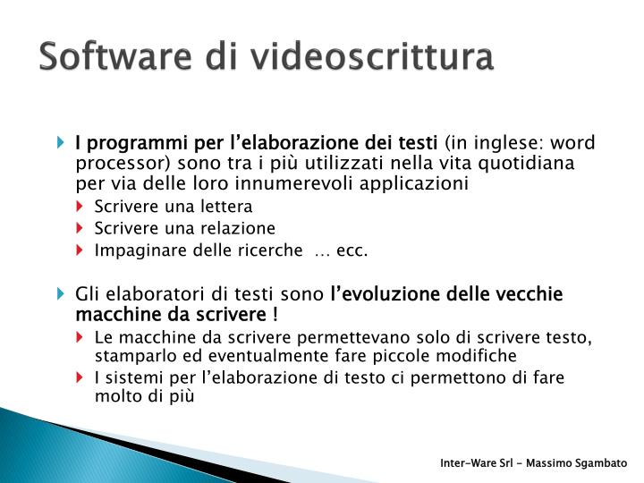 Software di videoscrittura