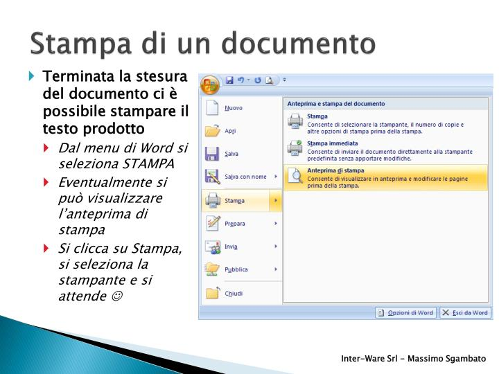 Stampa di un documento