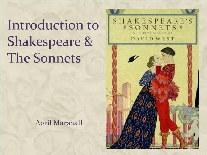 Introduction to shakespeare the sonnets