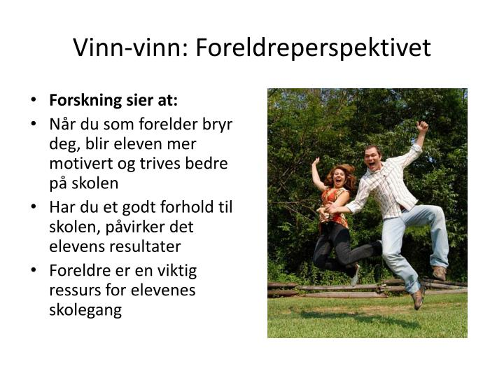 Vinn-vinn: Foreldreperspektivet