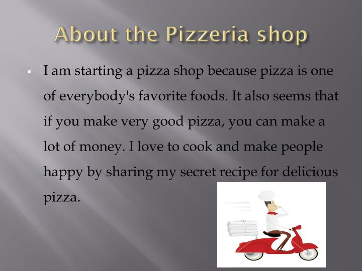 About the Pizzeria shop