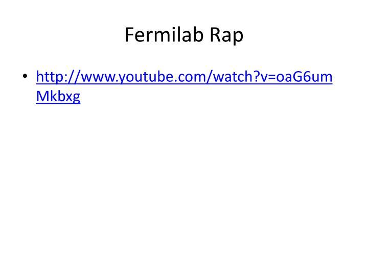 Fermilab Rap