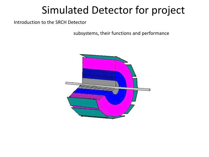 Simulated Detector for project