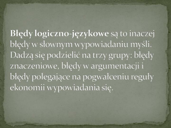 Błędylogiczno-językowe