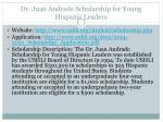 dr juan andrade scholarship for young hispanic leaders